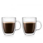 Bodum BISTRO Set 2 mugs, double paroi, avec anse, 0.3 l Transparent