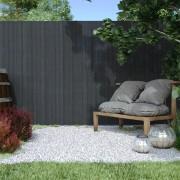 Jarolift Płotek ogrodowy PVC Standard, szer. listwy 13 mm, szary, 100x300cm