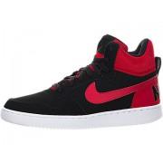 Nike Men Black & Red Court Borough Suede Mid-Top Sneakers (8 UK (9 US) 42.5 EU)