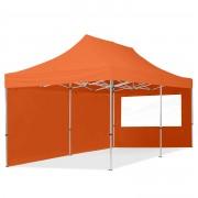 TOOLPORT Pop Up Gazebo 3x6m High Performance Polyester 300 g/m² orange waterproof