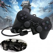 Alcoa Prime Black Durable Joypad Pad Single Shock Game Controller for Sony PS2 Playstatio tZ