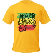 Tricou Peace Love And Music