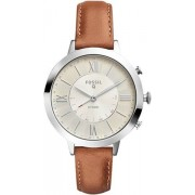 Fossil FTW5012 Q Jacqueline Women Smartwatch with Brown Leather Strap, A