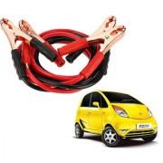 Auto Addict Premium Quality Car 500 Amp Heavy Duty Copper Core Tangle Battery Booster Cable 7.5 Ft For Tata Nano