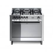 Lofra Mg96gv/c 90x60 Cucina Con Piano In Acciaio Lucidato A Specchio - 5 Fuochi A Gas Di Cui 1 Tripla Corona - Forno A Gas Vent