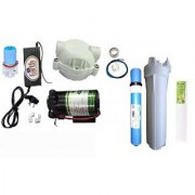 EarthRoSystem Service Set1 X Smps(24 V) 1x Solenoid Valve (Sv) 24 V 1 X Pump(75 GPD) 4 X Elbow 1 X Pump Head 1 Taflon Tape 1 Prefilter 1 Spun(Pp) 5meter Pipe Membrane