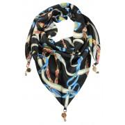 Jimena trojúhelníkový šátek s potiskem černá