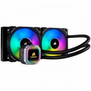 Corsair Hydro Series H100i RGB PLATINUM Liquid CPU Cooler, an all-in-one liquid CPU cooler with a 240mm radiator and vivid RGB lighting that's built for extreme CPU cooling, Cooling Socket Support Int
