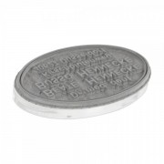 Trodat Piastra di Testo per Printy ovale 44055 55 x 35 mm - 7 righe