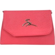 JACYLONDON Women Casual Red Leatherette, PU, Cotton Sling Bag