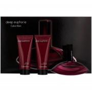 Deep Euphoria de Calvin Klein EDP 100 ml + Body Locion 100 ML + Gel de ducha 100 ML Estuche para mujer