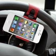 Suport Auto Cu Prindere De Volan iPhone Samsung Huawei HTC Universal