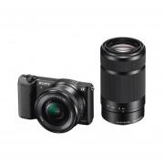 Sony Alpha A5100 ICL systeemcamera Zwart + 16-50mm OSS + 55-210mm OSS - Demomodel