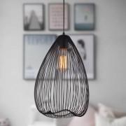 Kosiluz Lámpara colgante larga color negro - Fontana