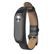 Leather Needle Buckle Black Brown Wrist Strap for XIAOMI Miband 2