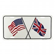 Cedule plechová Licence USA/ENG Flag
