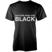 Geekdown Camiseta Cool Kids Wear Only Black - Hombre - Negro - XXL - Negro