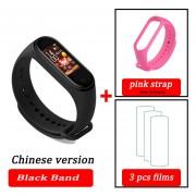Mi Band 4 pulsera inteligente Fitness pulsera MiBand 4 ritmo cardíaco tiempo gran pantalla táctil b