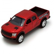 Jada Just Trucks 5-inch 2011 Ford F-150 SVT Raptor Pickup 1/32 Scale RED Truck with Pullback Action