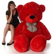 teddy bear 5 ft red