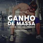 Kit Ganho de Massa Teacrine 30 cáps + Fórmula estimulante do apetite 90 cáps + Tribulus 60 cáps
