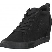 Calvin Klein Jeans Ritzy Canvas Black/black, Skor, Sneakers & Sportskor, Höga sneakers, Svart, Dam, 38