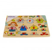 Puzzle din lemn MomKi Imbraca fetita 11 piese