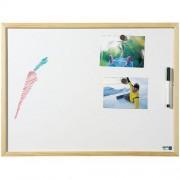 Whiteboard met houten profiel