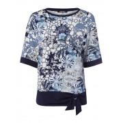 Olsen Rundhalsshirt mit dekorativem Bindeband am Saum Olsen Smoky Blue