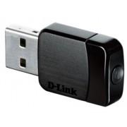 D-Link Dongle USB 2.0 2.4 GHz, 5 GHz, 433Mbit/s AC600 802.11a, 802.11ac, 802.11b, 802.11g, 802.11n WiFi, DWA-171
