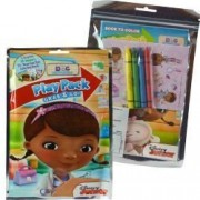 12 Packs Doc McStuffins Grab & Go Play Pack Mini Coloring Book Crayons Stickers