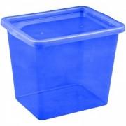 Cutie depozitare cu capac 29 litri albastru inchis