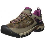 KEEN Targhee III WP Zapatillas de Senderismo para Mujer, Blanco/Boysenberry, 6.5 US