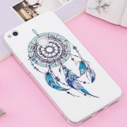 Huawei P8 Lite (2017) / P9 Lite (2017) Noctilucent IMD Feather Dream Catcher Pattern Soft TPU Back Case Protector Cover
