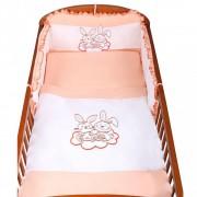 3-részes ágyneműhuzat New Baby Bunnies 90/120 narancssárga