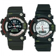 Crude Smart Combo Digital Watch-rg570 With Adjustable Rubber Strap
