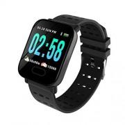 RONSHIN Reloj inteligente con monitor de frecuencia cardíaca A6 IP67 impermeable para Android iOS Negro SZLSR-1104CE2BCE52E71A