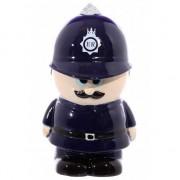 Merkloos Politieman spaarpot keramiek