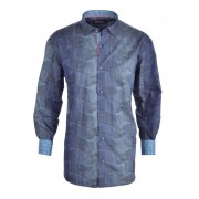 Spazio Ardwahisht Long Sleeved Shirt Navy 17-S-1325
