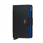 Secrid Mini Wallet Portemonnee Cubic Black - Blue