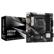 ASRock P?yta g?ówna AB350M Pro4-F AM4 4DDR4 DVI/HDMI/VGA M.2 mATX