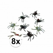 Merkloos Horror insecten spinnetjes 8 stuks 10 cm