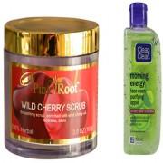 Pink Root Wild Cherry Scrub (100gm) with Clean Clear Morning Energy Face Wash Purifying Apple (100ml) Pack of 2
