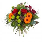 Interflora Ramo en tonos cálidos y verdes - Flores a Domicilio