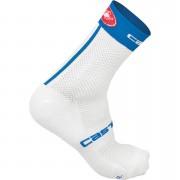 Castelli Free 9 Socks - White/Surf Blue - S-M - White/Surf Blue