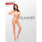 Glansig plus size strumpbyxa Ouvert 40 från Glamory black 2XL