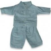 Set costum jeans pentru papusi Miniland 38-42 cm