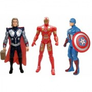 New Pinch Super Heroes 3 in 1 Power Action Figure Set Toy for Kids (Multicolor)
