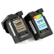 ZipZap PG-540XL/CL-541XL Pack 3 Cartuchos Compatibles Canon Negro/Tricolor