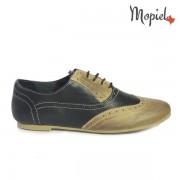 Pantofi dama din piele naturala 23404-1/Crem-Negru